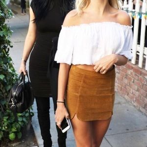 Brandy Melville White Top with Raquel skirt